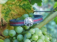 Bracelet homme Peace and Love en cuir vegan