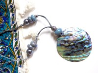Collier pendentif Nacre Abalone coquillage