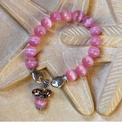 Bracelet POISSON en Oeil de Chat rose