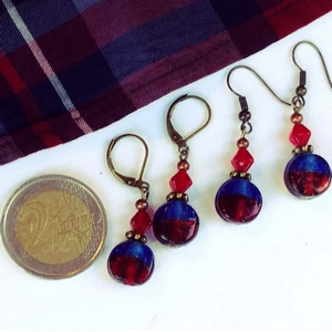 boucles d'oreilles originales artisanales bymademoisellef 11000 made in Carcassonne